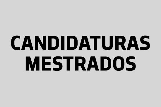 Candidaturas aos cursos de Mestrado (2017-2018)