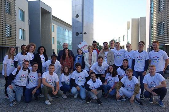 Sessão de acolhimento para estudantes em mobilidade internacional